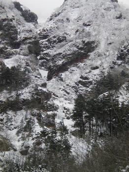 三叉峰ルンゼF1と南稜下部
