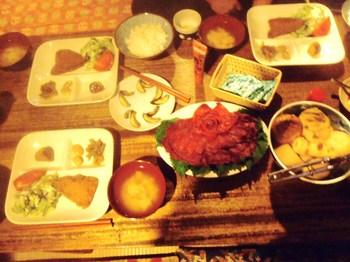 黒百合夕飯