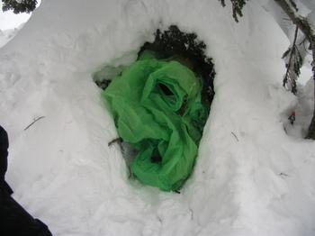 半雪洞とツエルト