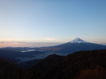 富士山朝焼け